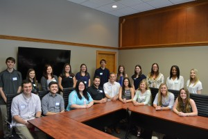Students in the 2016 Civic Leaders Fellowship Program are, from left: Casey Wilson, Derek Hunter, Kaitlynn Hewitt, Collin Stipetich, Hayden Blazer, Jackie McDermott, Natalie Marquart, Ashley Grove, Taylor Cunningham. In the second row, from left: Dylan Wilkerson, Megan Cook, Miranda Heitz, Andrea Garrison, Christa Harshberger, Mason Lee, Jordan Miller, Jordan Riggs, Claudia Palmer, Azhiare Goodwin-Rowe, Micaela Connors